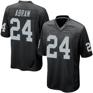 Men's Nike Oakland Raiders Johnathan Abram Team Color Jersey - Black Game