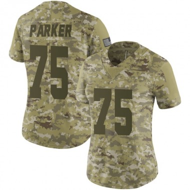 Women's Nike Oakland Raiders Brandon Parker 2018 Salute to Service Jersey - Camo Limited