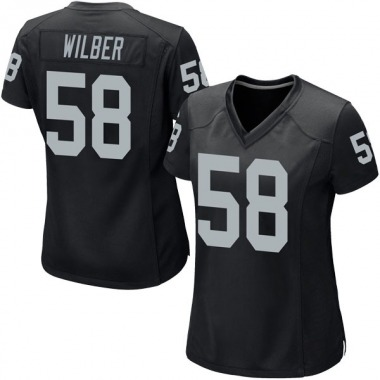 Women's Nike Oakland Raiders Kyle Wilber Team Color Jersey - Black Game