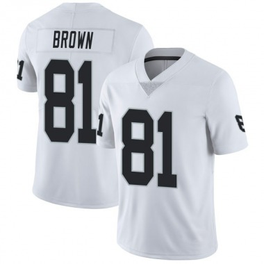 Youth Nike Oakland Raiders Tim Brown Vapor Untouchable Jersey - White Limited
